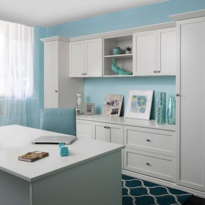 Custom Home Office Cabinets & Built In Storage