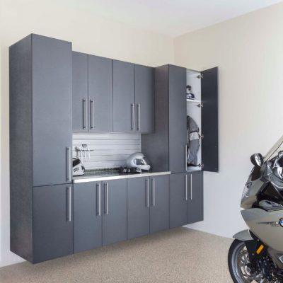 Granite-Doors-Stainless-with-Gray-Slatwall-Motorcycle-Angle-Door-Open-Feb-2013-792x1024